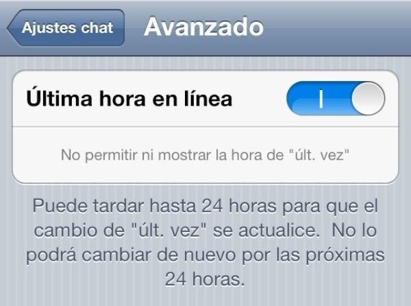 whatsapp ultima vez