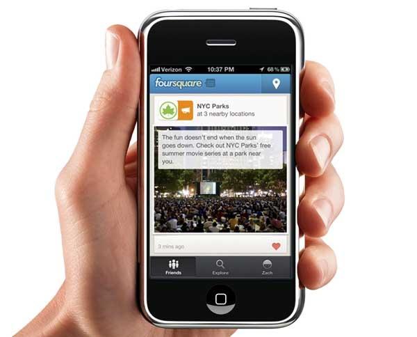 Foursquare recibe pequeñas mejoras en iPhone y Android