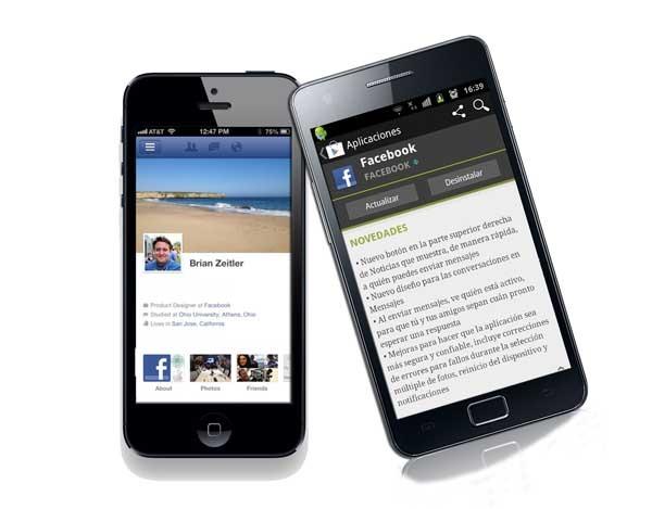 Facebook se actualiza en Android y para dar soporte al iPhone 5