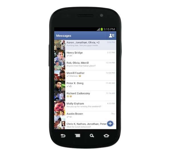 Facebook Messenger permite el envío de SMS en Android