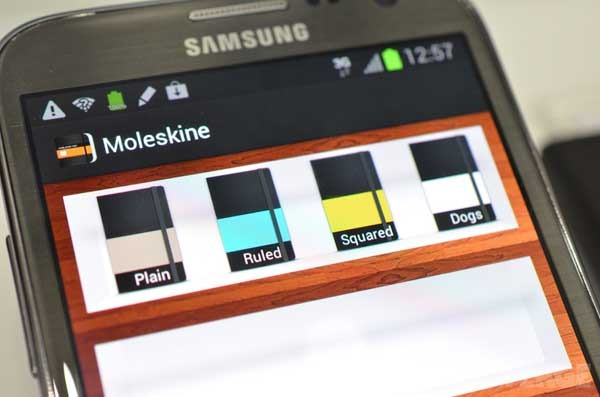 Moleskine llega a Android en exclusiva para los Galaxy Note