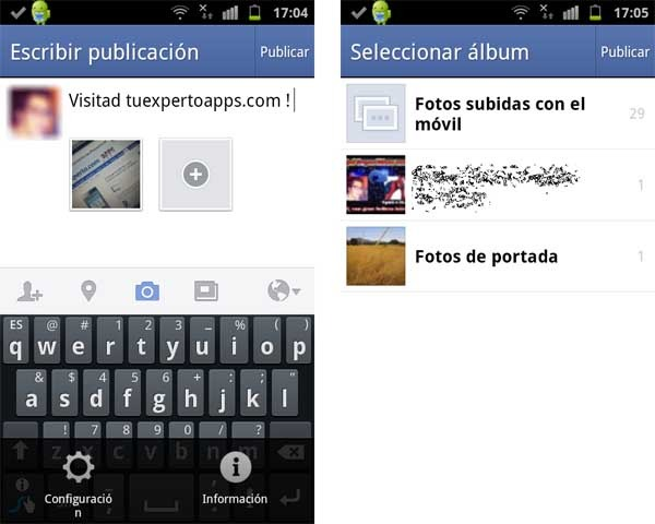 how to create an album on facebook app android