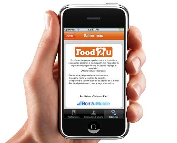 Food2u, pide la comida a domicilio desde tu smartphone