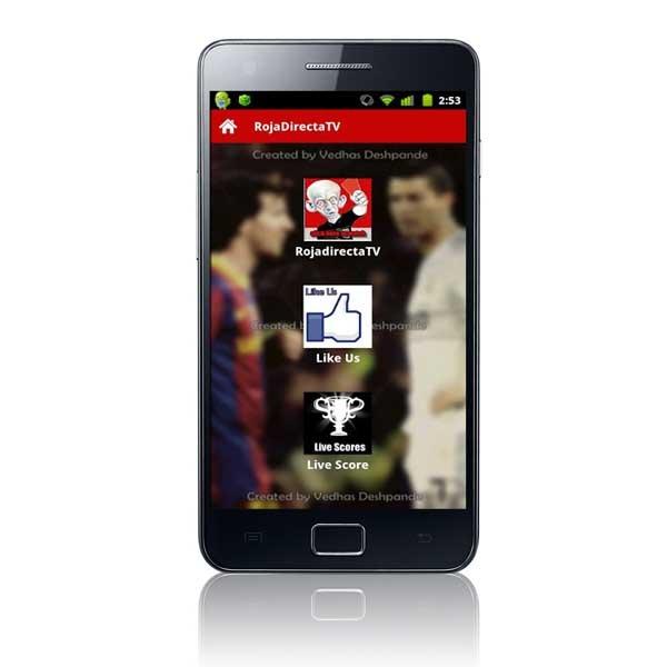 RojaDirectaTV, sigue los partidos en directo con tu Android