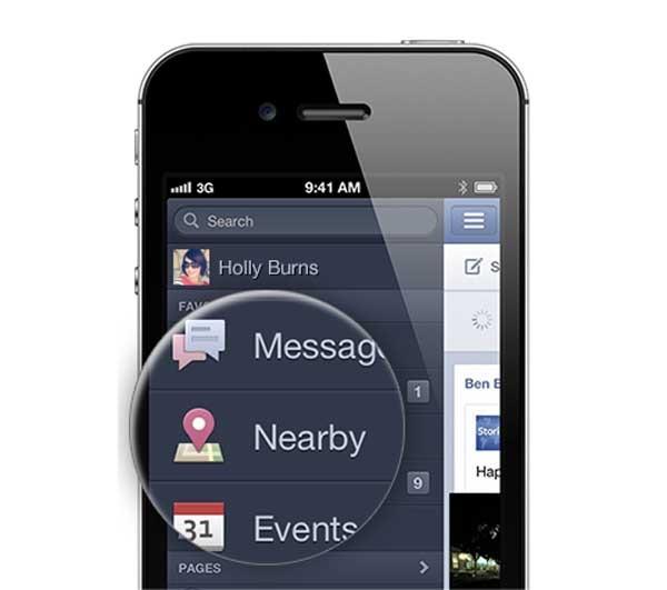 Facebook incluye lugares cercanos en su aplicación oficial