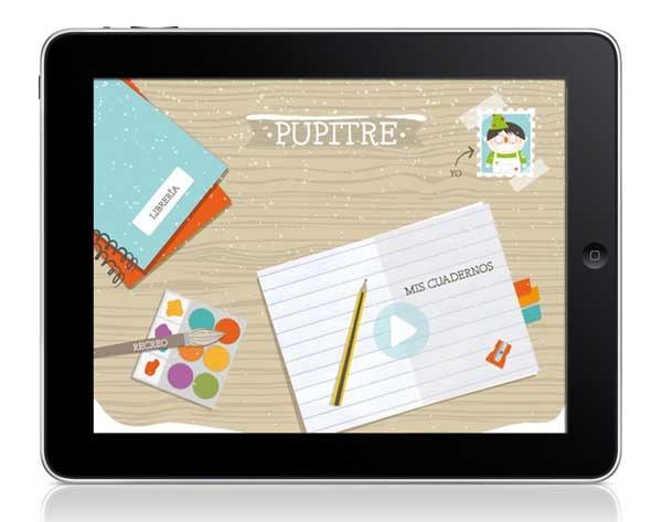 Pupitre, las actividades de la escuela ahora en el iPad