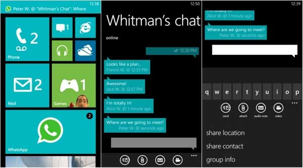 whatsapp lumia 820