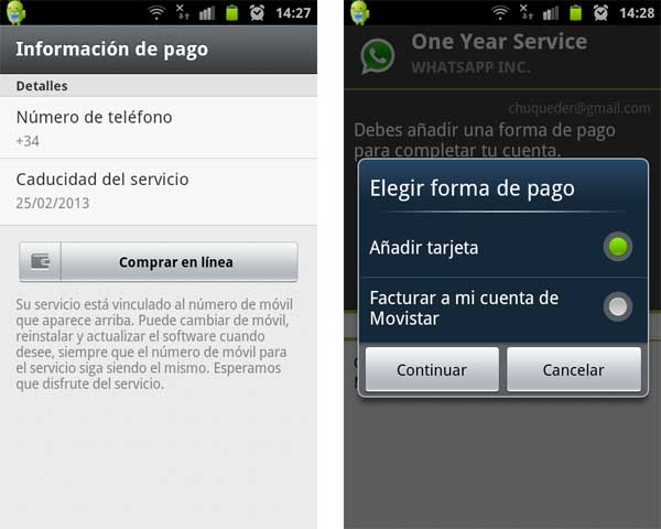 whatsapp renovación google play