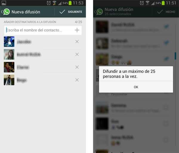 whatsapp difusiones