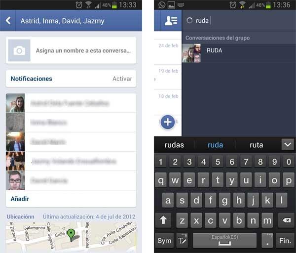 facebook messenger grupos