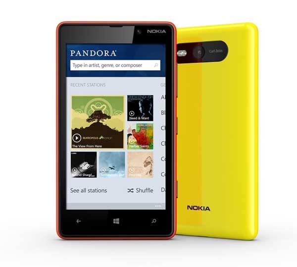 Pandora, música gratis y sin publicidad para los Windows Phone 8