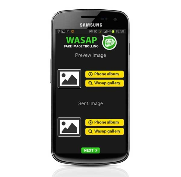 Wasap Fake Image Trolling, imágenes de broma para WhatsApp