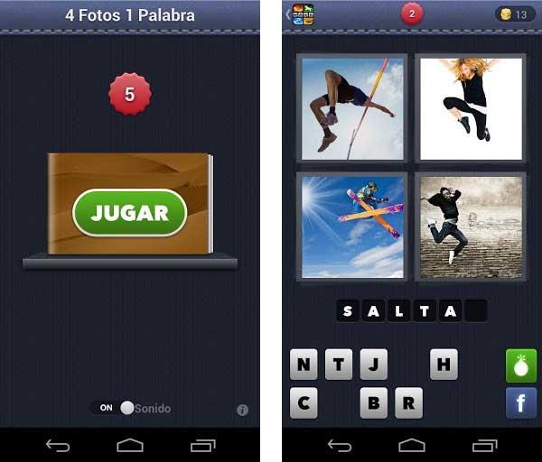 4 fotos 1 palabra un juego de adivinanzas con fotos