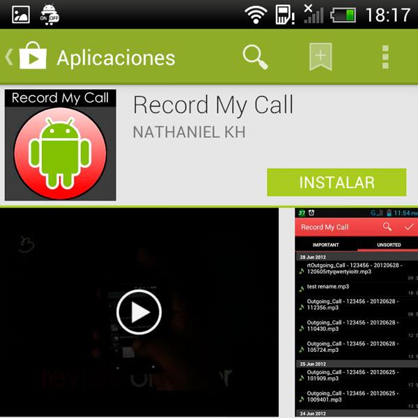 Record my call, graba las llamadas en tu móvil Android