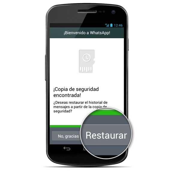 whatsapp restaurar conversaciones