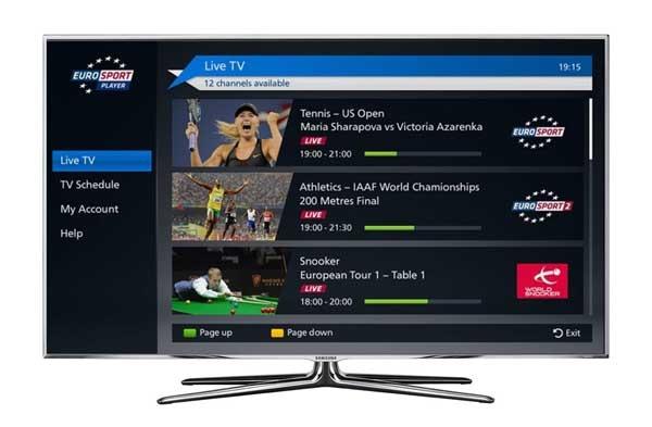 Eurosport Player App, sigue todos los deportes desde tu Samsung Smart TV