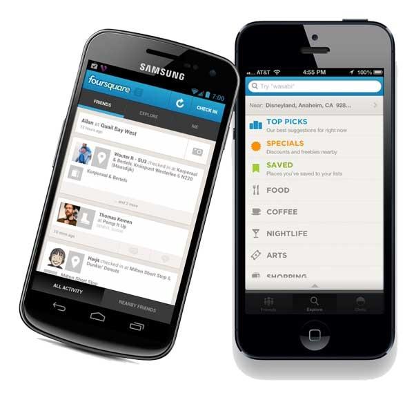 Foursquare ahora permite hacer Check-in con amigos