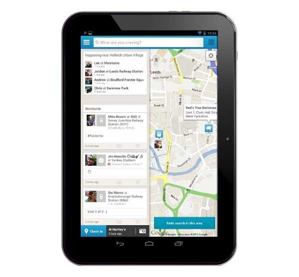 Foursquare mejora la exploración y se adapta a las tabletas Android