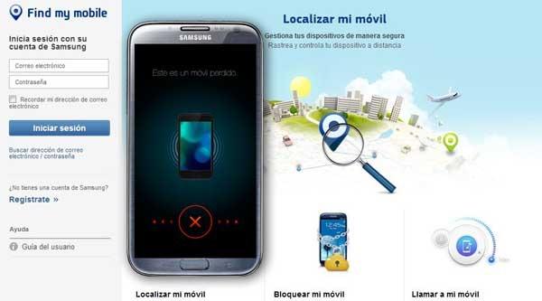 como localizar meu celular samsung