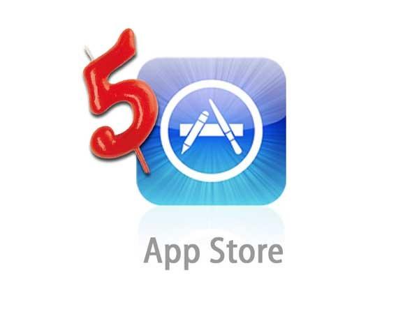 Apple celebra el quinto aniversario de su tienda App Store con app gratis