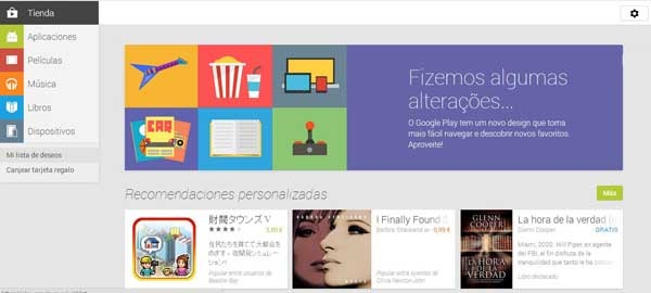 Así es el nuevo diseño de la tienda de aplicaciones Android