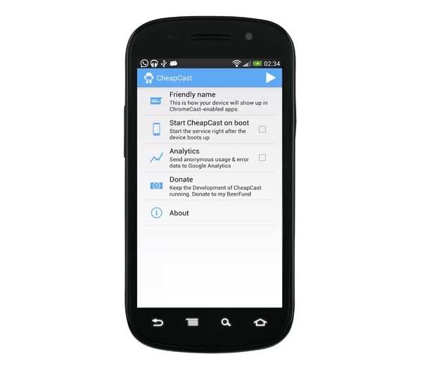 Cheapcast, transforma tu Android en el gadget Chromecast de Google