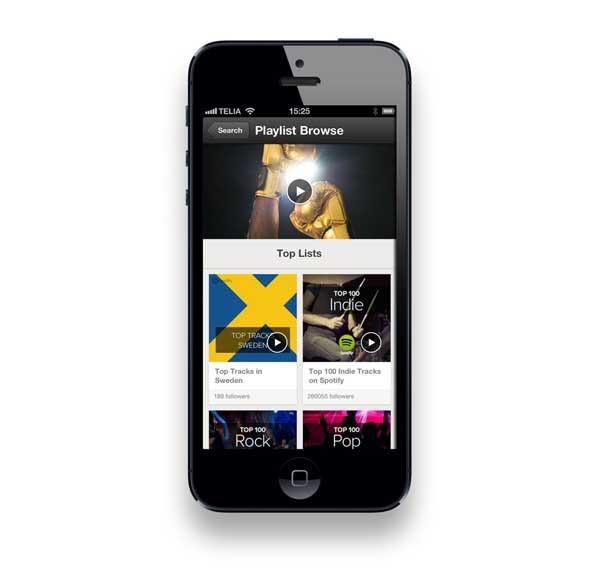 Spotify trae sus listas seleccionadas a las aplicaciones