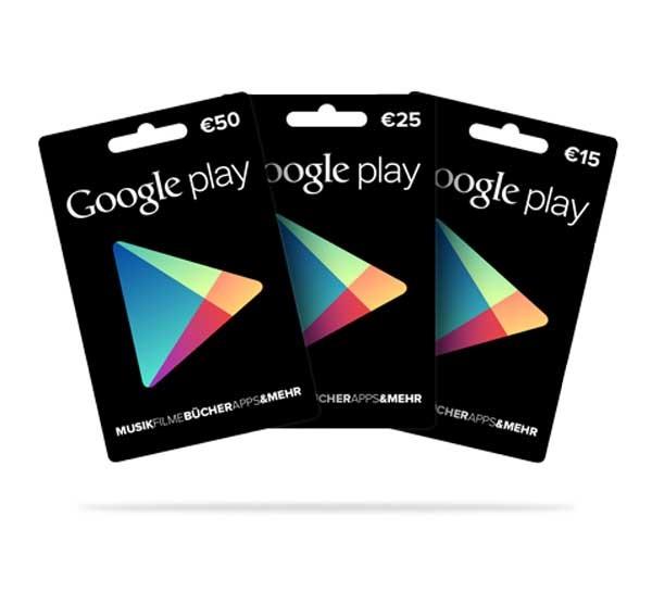 Las tarjetas regalo de Google Play llegan a España