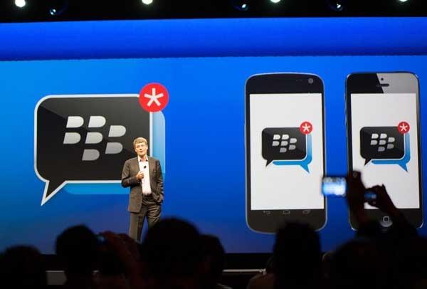 BlackBerry Messenger cancela su salida en Android y iPhone temporalmente