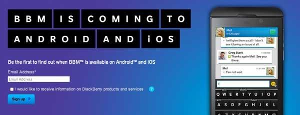 BlackBerry Messenger cancela su salida en Android y iPhone