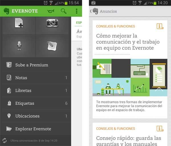 Evernote permite dibujar sobre las notas y archivos PDF en Android