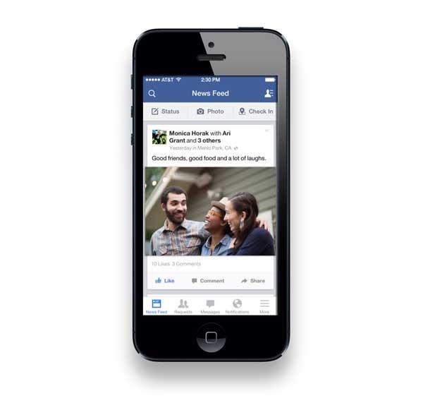 Facebook mejora su app de iPhone desde dentro