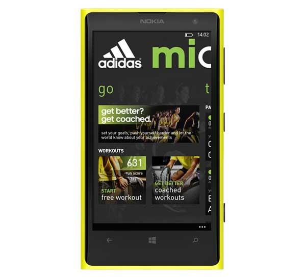miCoach, el entrenador personal de Adidas llega a Windows Phone