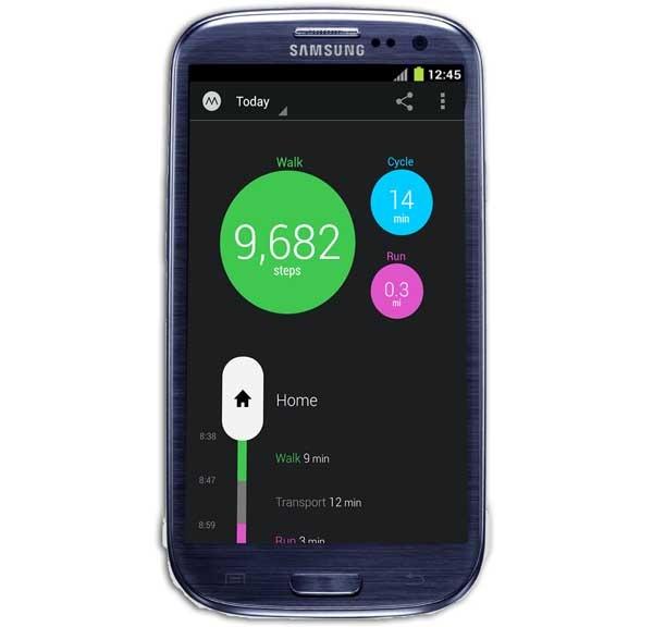 Moves, un podómetro para registrar todo tu día a día
