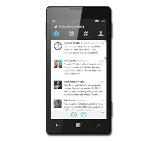 La app de Twitter agota los datos de Internet en los Windows Phone