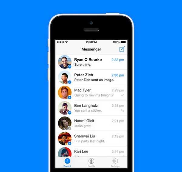 Facebook Messenger también cambia de estilo para iPhone