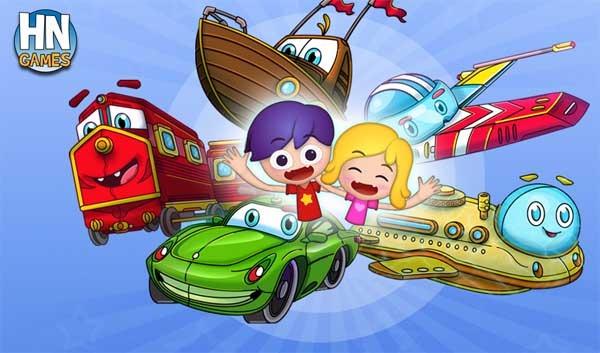 Juegos de Puzles para niños, crea circuitos para coches, trenes, naves y más