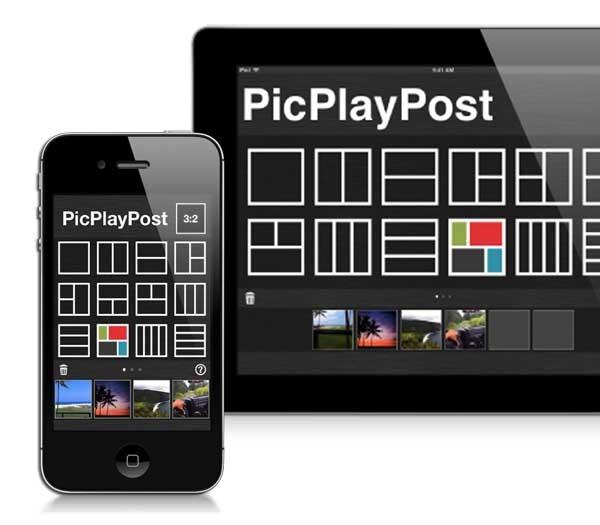 PicPlayPost, crea collages de vídeos con tu iPhone o iPad