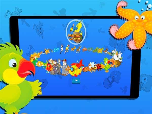 Pintando con Tito, un juego de colorear para niños