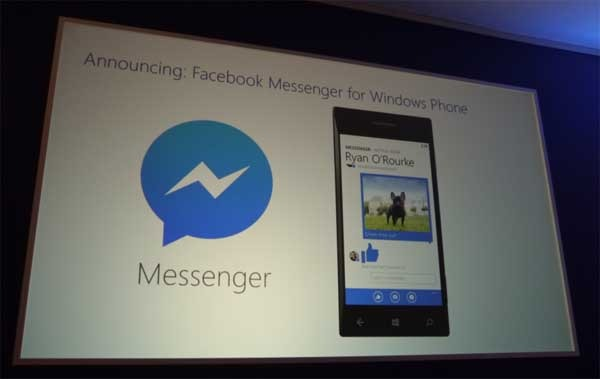Facebook Messenger también llegará a Windows Phone