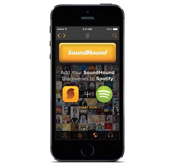 SoundHound crea listas de reproducción en Spotify con las canciones reconocidas