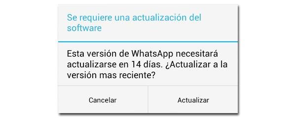 La actualización inexistente de WhatsApp