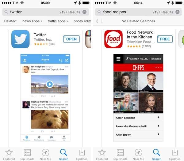 app store resultados relacionados