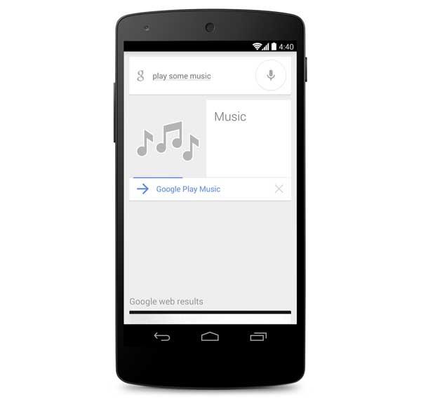 Google ya permite reproducir música con una orden de voz