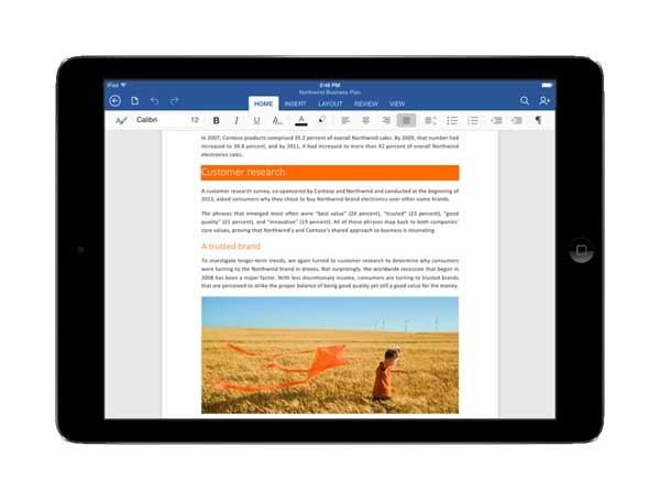 Las aplicaciones de Office para iPad ya son una realidad