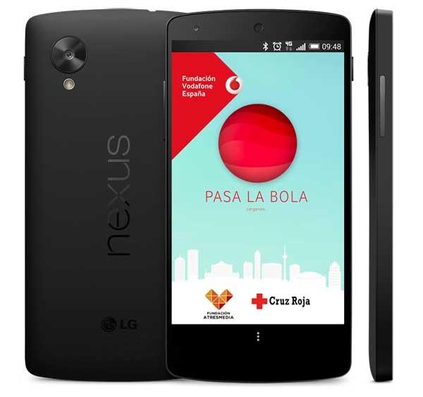 Pasa la bola, colabora con Cruz Roja y Vodafone jugando con esta aplicación