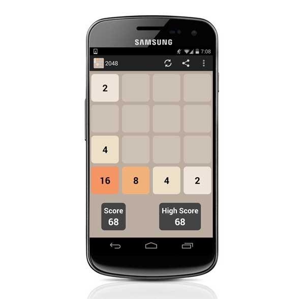 2048, un juego de lógica que está triunfando en smartphones