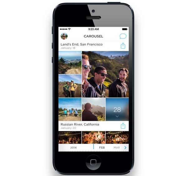 Carousel, Dropbox propone mejorar la galería del terminal con esta app