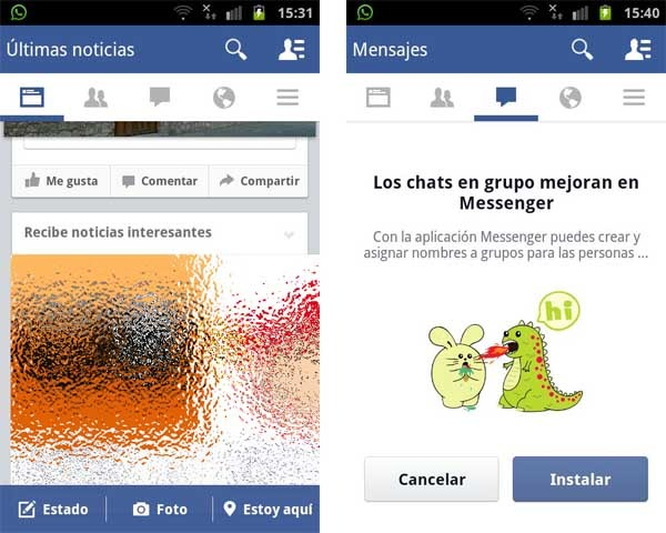 facebook rediseño android