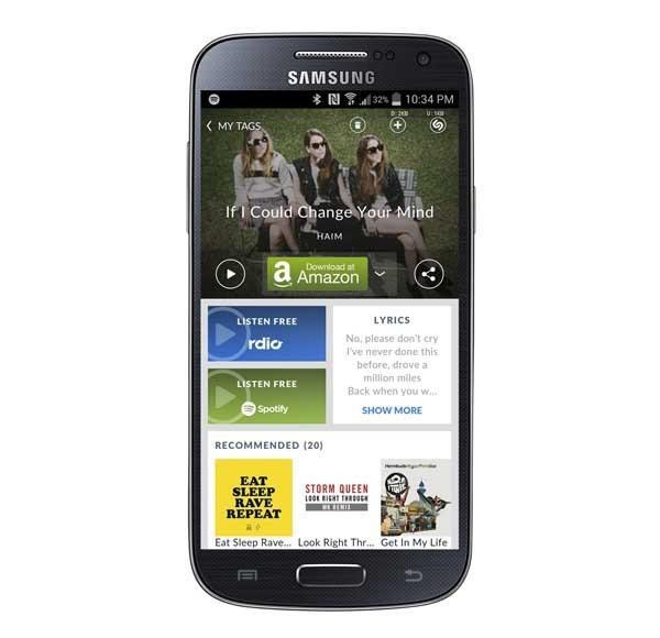 Shazam para Android ya muestra las letras de canciones en reproducción